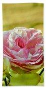 Antique Pink Rose Beach Towel