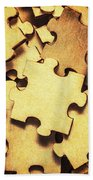 Antique Puzzle Of Missing Links Beach Sheet