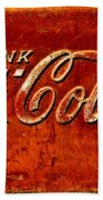 Antique Soda Cooler 3 Beach Sheet