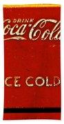 Antique Soda Cooler 6 Beach Towel