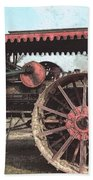 Antique Tractor - Rollag, Minnesota Beach Towel
