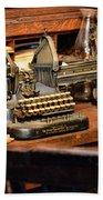 Antique Typewriter Beach Towel
