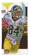 Antonio Brown Pittsburgh Steelers Oil Art 4  Beach Towel