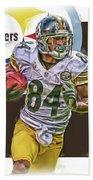 Antonio Brown Pittsburgh Steelers Oil Art 4  Beach Sheet