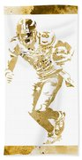 Antonio Brown Pittsburgh Steelers Water Color Art 4 Beach Towel