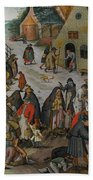 Antwerp The Seven Acts Of Mercy Beach Towel