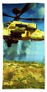 Apache Ai Assault - Operation Desert Wolves Beach Towel
