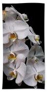Aphrodite - White Orchid Beach Towel