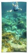 Apnea In Tropical Sea Beach Towel