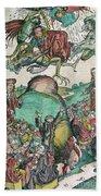 Apocalypse, Nuremberg Chronicle, 1493 Beach Towel