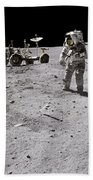 Apollo 16 Astronaut Collects Samples Beach Towel