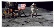 Apollo 16 Astronaut Leaps Beach Towel