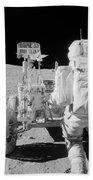 Apollo 16 Astronaut Reaches For Tools Beach Towel