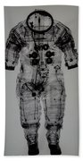 Apollo Space Suit X-ray Beach Towel