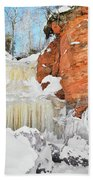 Apostle Islands National Lakeshore Waterfall Portrait Beach Towel