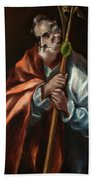 Apostle Saint Thaddeus, Jude Beach Towel