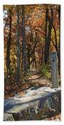 Appalachian Trail In Shenandoah National Park Beach Towel