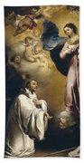 Apparition Of The Virgin To Saint Bernardo  Beach Towel
