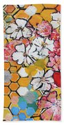 Apple Honeycomb Blossoms 201760 Beach Towel