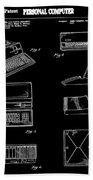 Apple Macintosh Patent 1983 Black Beach Towel