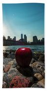 Apple On The Rocks Beach Towel