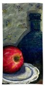 Apples And Bottles Beach Towel