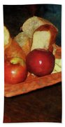 Apples And Bread Beach Towel by Susan Savad