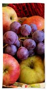 Apples And Grapes Beach Towel