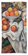 Apples And Oranges Beach Towel by Paul Cezanne