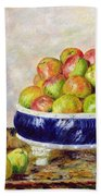 Apples In A Dish Beach Towel