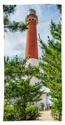 Approach To Barnegat Light Beach Towel