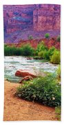 Approaching Navajo Falls Beach Towel