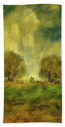 Approaching Storm At Antietam Beach Towel by Lois Bryan