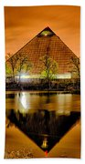 April 2015 - The Pyramid Sports Arena In Memphis Tennessee Beach Towel