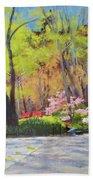 April Morning In Carl Schurz Park Beach Towel