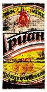 Apuaha Beer Sign Beach Towel