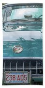 Aqua Blue 1959 Corvette  Beach Towel