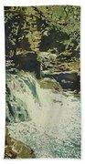 Aqua Falls Beach Towel