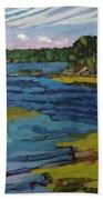 Aqua Beach Towel