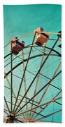 Aquamarine Dream - Ferris Wheel Art Beach Towel