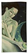 Aquarius From  Zodiac Signs Series Beach Towel