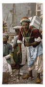 Arab Stonemasons, C1900 - To License For Professional Use Visit Granger.com Beach Towel