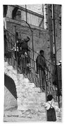 Arab Youths In Bethlehem 1938 Beach Towel