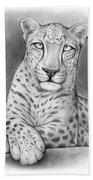 Arabian Leopard Beach Towel
