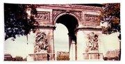 Arc De Triomphe 1955 Beach Towel