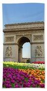 Arc De Triomphe In Paris Beach Towel
