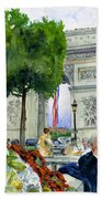 Arc De Triomphe Beach Towel