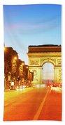 Arc De Triomphe, Paris, France Beach Towel