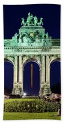 Arcade Du Cinquantenaire At Night - Brussels Beach Towel