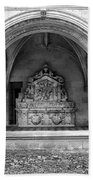 Arch At Fontevraud Abbey Bw Beach Towel